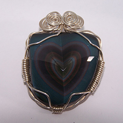1303-13,rainbow,obsidian,heart,handcrafted,CT,jewelry