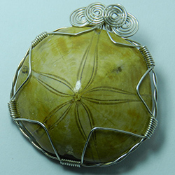 1304-15,sea,urchin,fossil,handcrafted,CT,jewelry