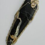 098-03,black,marble,slide,handcrafted,CT,jewelry