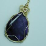 1002-63,sugilite,gemstone,necklace,handcrafted,CT,jewelry