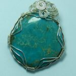 1106-30,turquoise,cabochon,slide,handcrafted,CT,jewelry