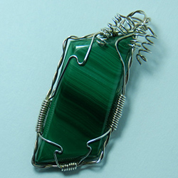 098-07,malachite,gemstone,pendant,handcrafted,CT,jewelry