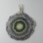 1407-43 amethyst flower necklace handcrafted FL jewelry 203 513-1045