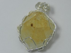 1508-19 citrine crystal slide handcrafted local jewelry 203 513-1045