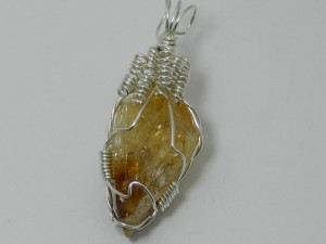 1509-06 citrine crystal necklace handcrafted local jewelry 203 513-1045