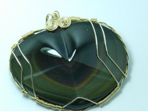1208-29,rainbow,obsidian,slide,handcrafted,CT,jewelry