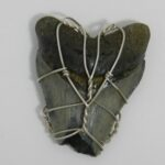 1607-29 megalodon shark tooth, handcrafted local jewelry 2035131045
