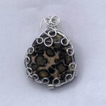 2008-10 LEOPARD SKIN SLIDE, handcrafted gemstone jewelry 203-513-1045
